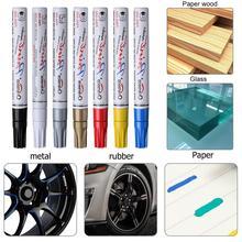 7Colors Universal Waterproof Permanent Paint Marker Pen Car Tyre Auto Tire Tread Rubber Painting Marker Graffiti Oily Marker Pen