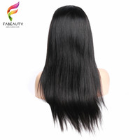 Brazilian Straight 360 Lace Frontal Wig Remy Hair Human Hair Wigs For Black Women Beauty Forever Hair Free Shipping Fabeauty