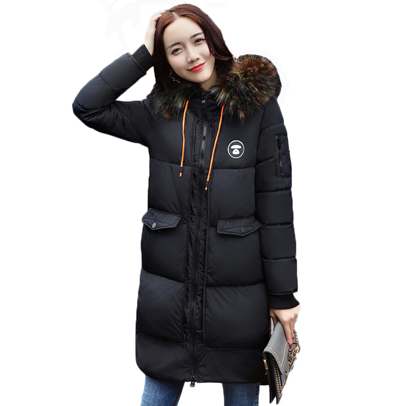 Thickening Cotton Padded Female Jackets Fur-Collar Women Parkas With Hood Winter Coat Cotton Hot Winter Model