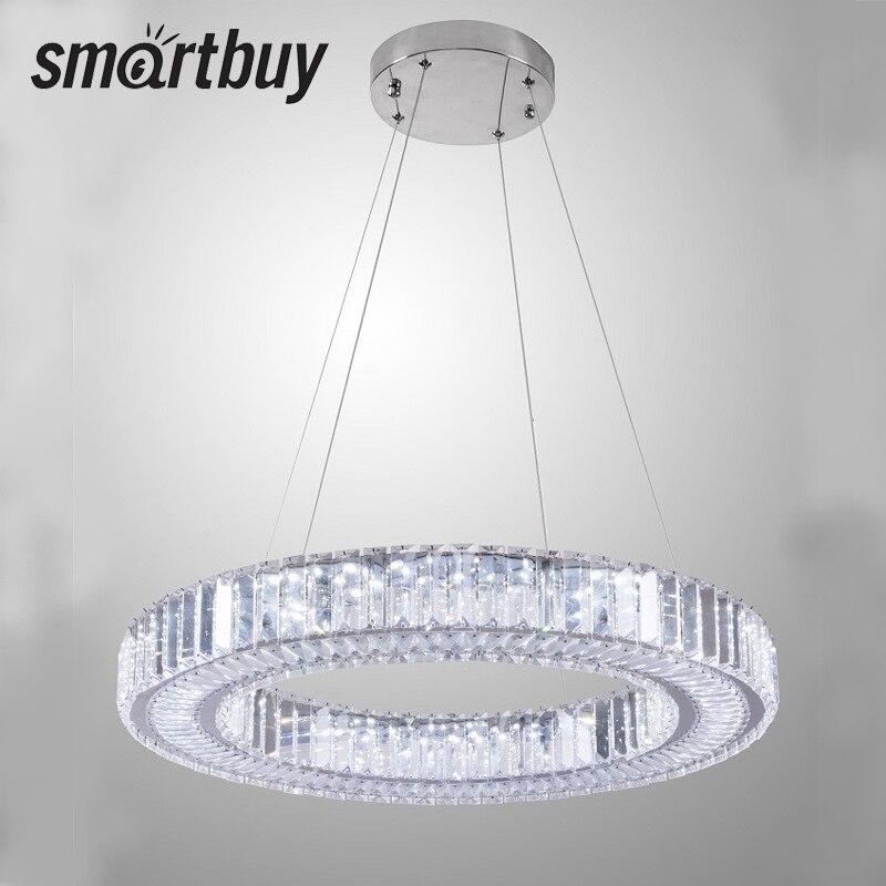 Chandelier SmartBuy Crystal 8512, led, 3 color dimming, 60 W, 8512dim, SBL-CR-60W-8512dim contemporary 3 light crystal chandelier 220 240v