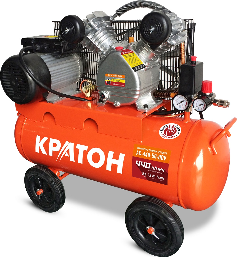 Compressor KRATON with belt transmission AC-440-50-BDV compressor kraton with belt transmission ac 630 110 bdw