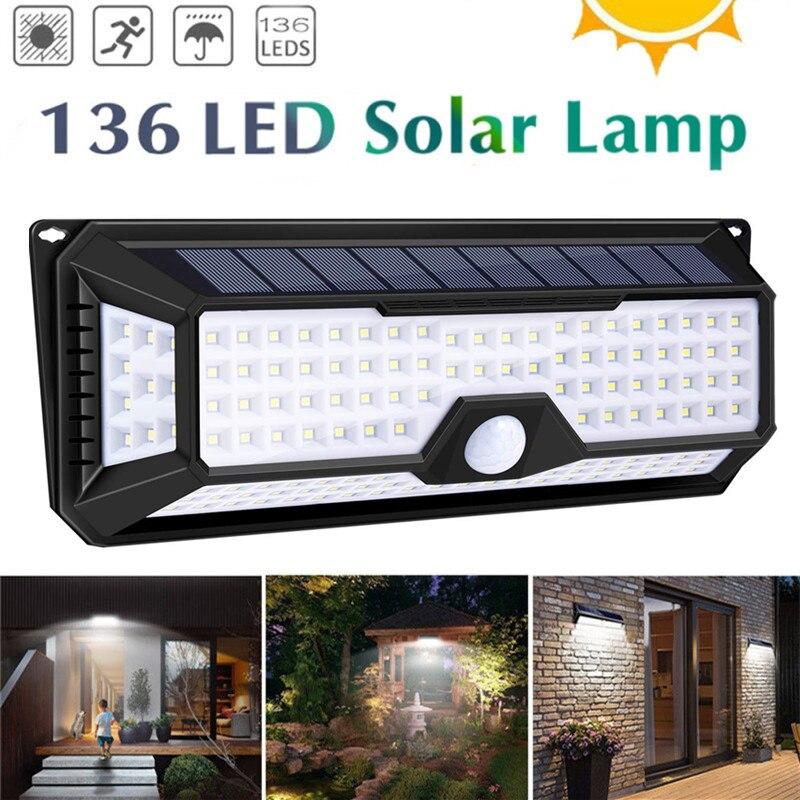 118/136led Solar Licht Solar Pir Motion Sensor Lampe Ip65 Wasserdichte Outdoor Garten Hof Lampe Notfall Sicherheit Licht Solar Lampe Novel (In) Design;