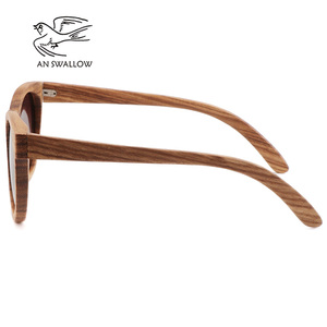 Image 2 - Womens Bamboo Sunglasses Polarized Zebra Wood Glasses Handmade Vintage Wooden Frame Mens Driving Sunglasses Cool Polarization