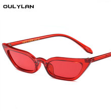db8fad81d Oulylan Mulheres Olho de Gato Retro Óculos De Sol Amarelo Lentes Roxas  UV400 Cateye óculos de Sol Marca de Luxo Designer De Ócul.
