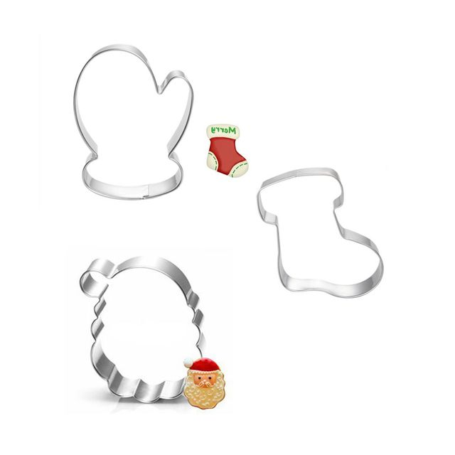 Us 1 69 15 Off 3pcs Christmas Cookie Cutter Toy Fruit Vegetable Biscuit Cutters Tools Cake Mold Bakery Kitchen Gadgets Sale Stainless Steel In