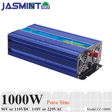 1000W 96V/110VDC to 110V/220VAC Off Grid Pure Sine Wave Single Phase Solar or Wind Power Inverter, Surge Power 2000W стоимость