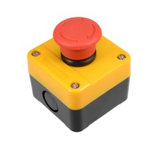 купить UXCELL Push Button Switch Station Mushroom Self Lock Select Switch Station, 400V 10A/6A To Automatic Control Electric Circuits дешево