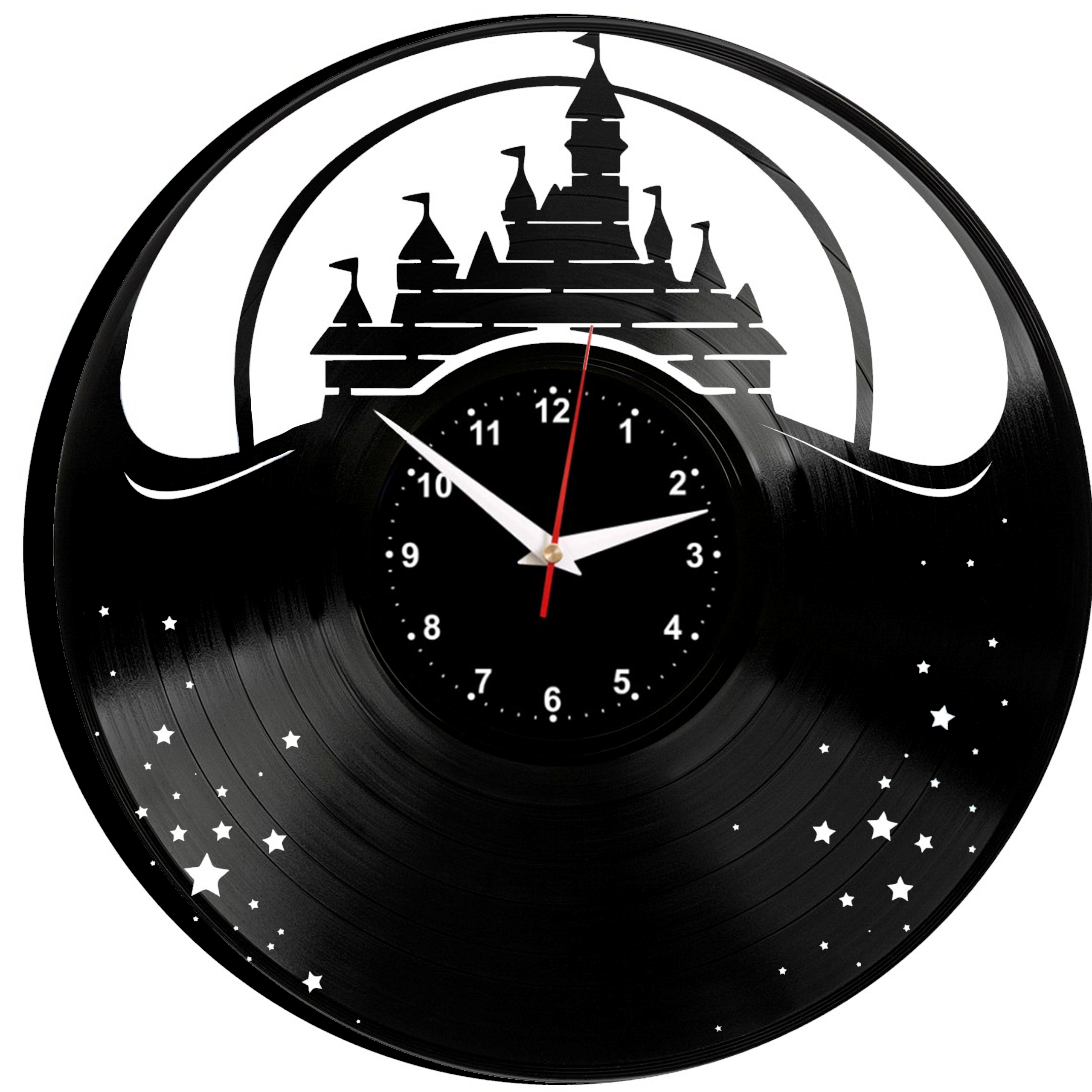 WALT DISNEY Wall Clock Vinyl Vinyl Record Retro Clock Handmade Vintage Gift Style Room Home Decorations Great Gift Clock
