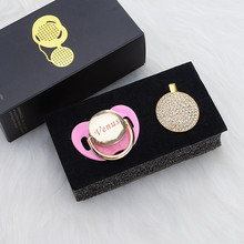 MIYOCAR אישית כל שם יכול להפוך כל זהב בלינג מוצץ מוצץ קליפ BPA משלוח dummy בלינג ייחודי עיצוב PB