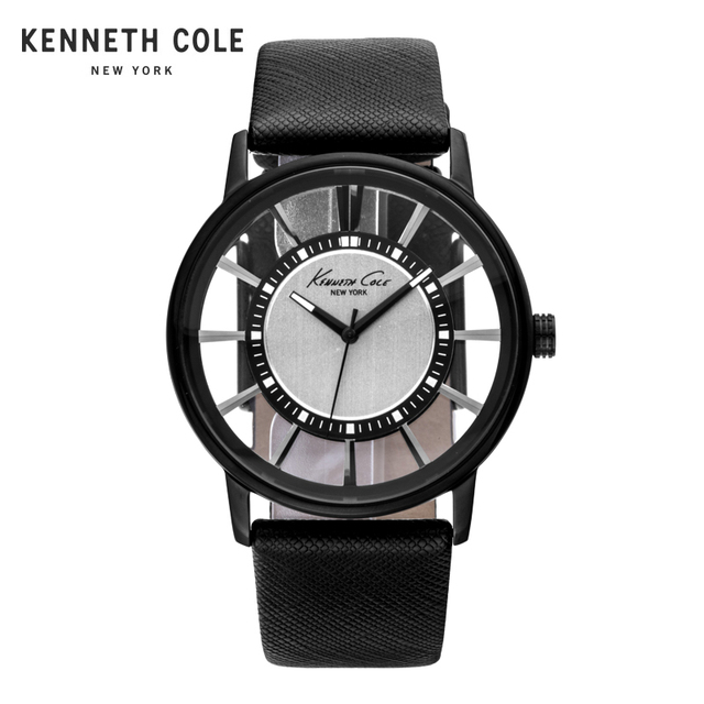 a427426a3a19 Kenneth Cole Men Watch Quartz Leather Band Water Resistant Watches  See-through Men s Watches KC1752