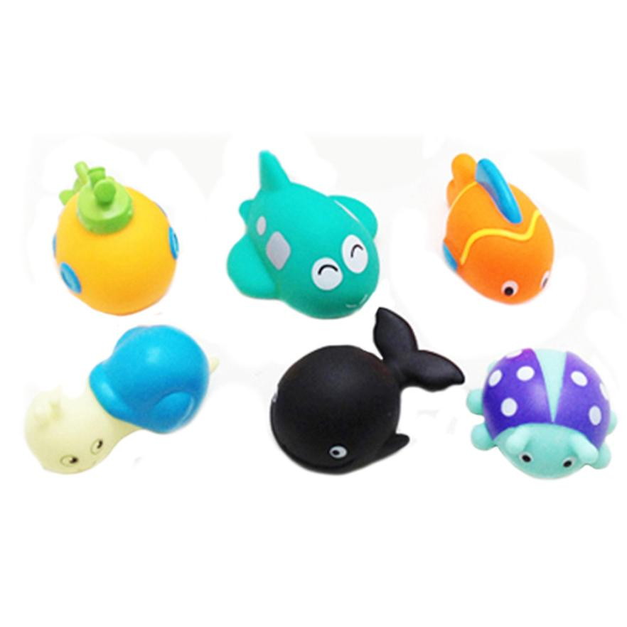 6PC Playing Water Children Kids Spray Bathing Pool Tub Animals Sounding Toys IUNEED TOY Store