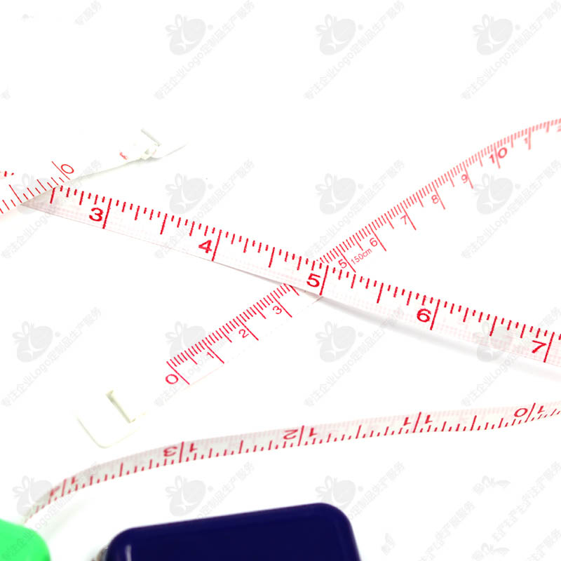 100 pcs/lot ruban à mesurer carré rétractable porte-clés Double échelle 60 pouces mesure du corps couture tailleur artisanat règle sac pendentif - 2