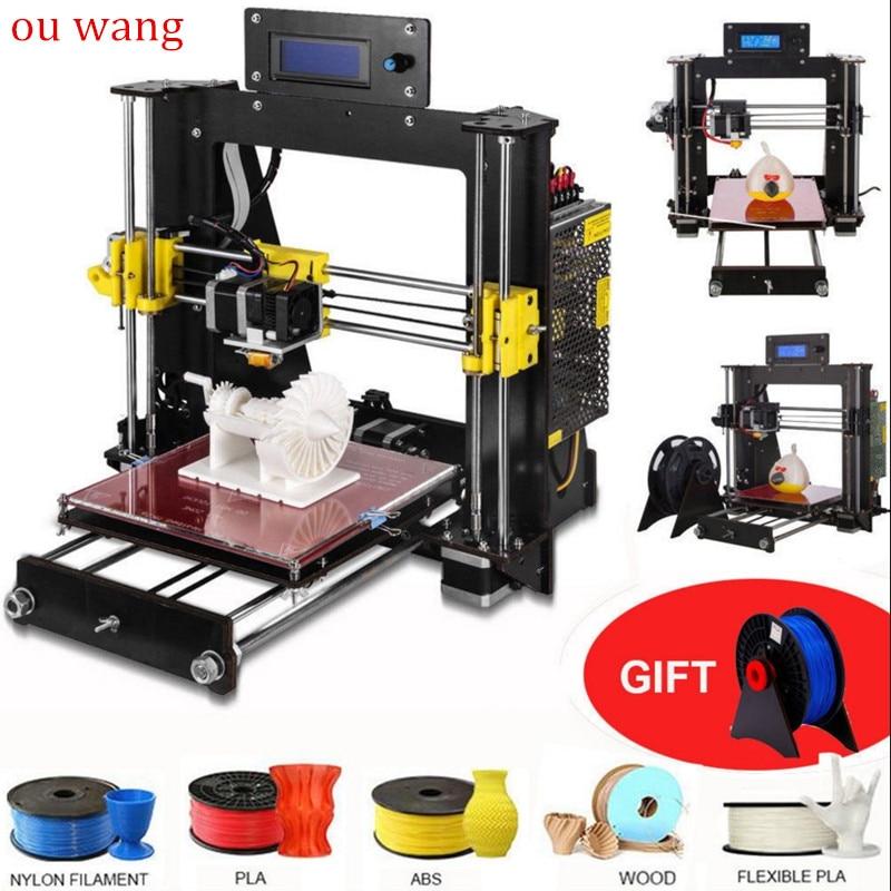 2018 Новый 3D-принтеры Prusa i3 Reprap MK8 DIY Kit MK2A Heatbed ЖК-дисплей контроллер CTC
