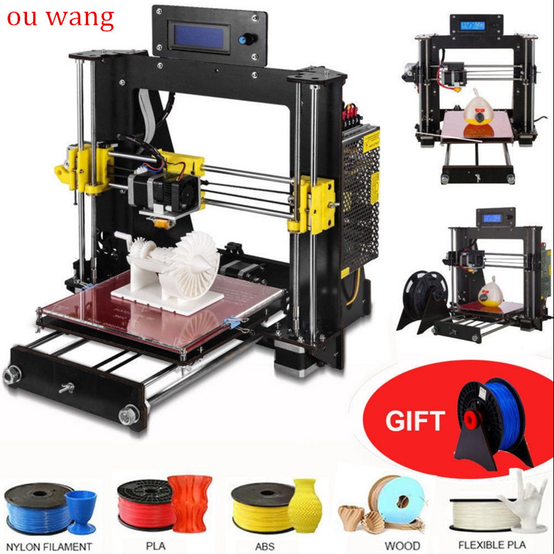 цена на 2018 NEW 3D Printer Prusa i3 Reprap MK8 DIY Kit MK2A Heatbed LCD Controller CTC
