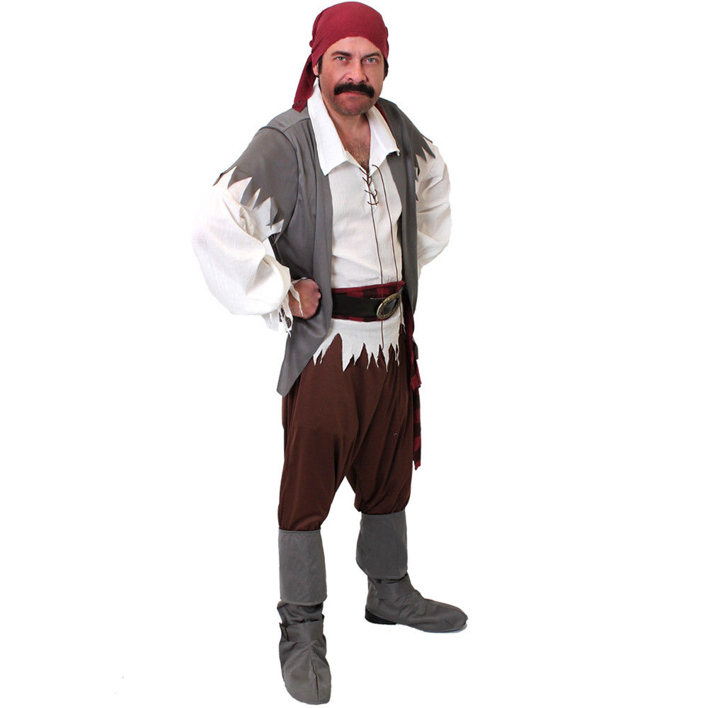 2018 I LOVE FANCY DRESS ADULT MENS CARIBBEAN PIRATE COSTUME CAPTAIN FANCY DRESS COSTUME BOOK OUTFIT