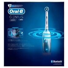 Электрическая зубная щетка Oral-B Genius 8000 (Белая)