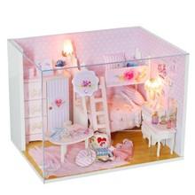 diy dollhouse toys furniture  Princess Diy Cottage Children Handmade Creative Puzzle Birthday Gift