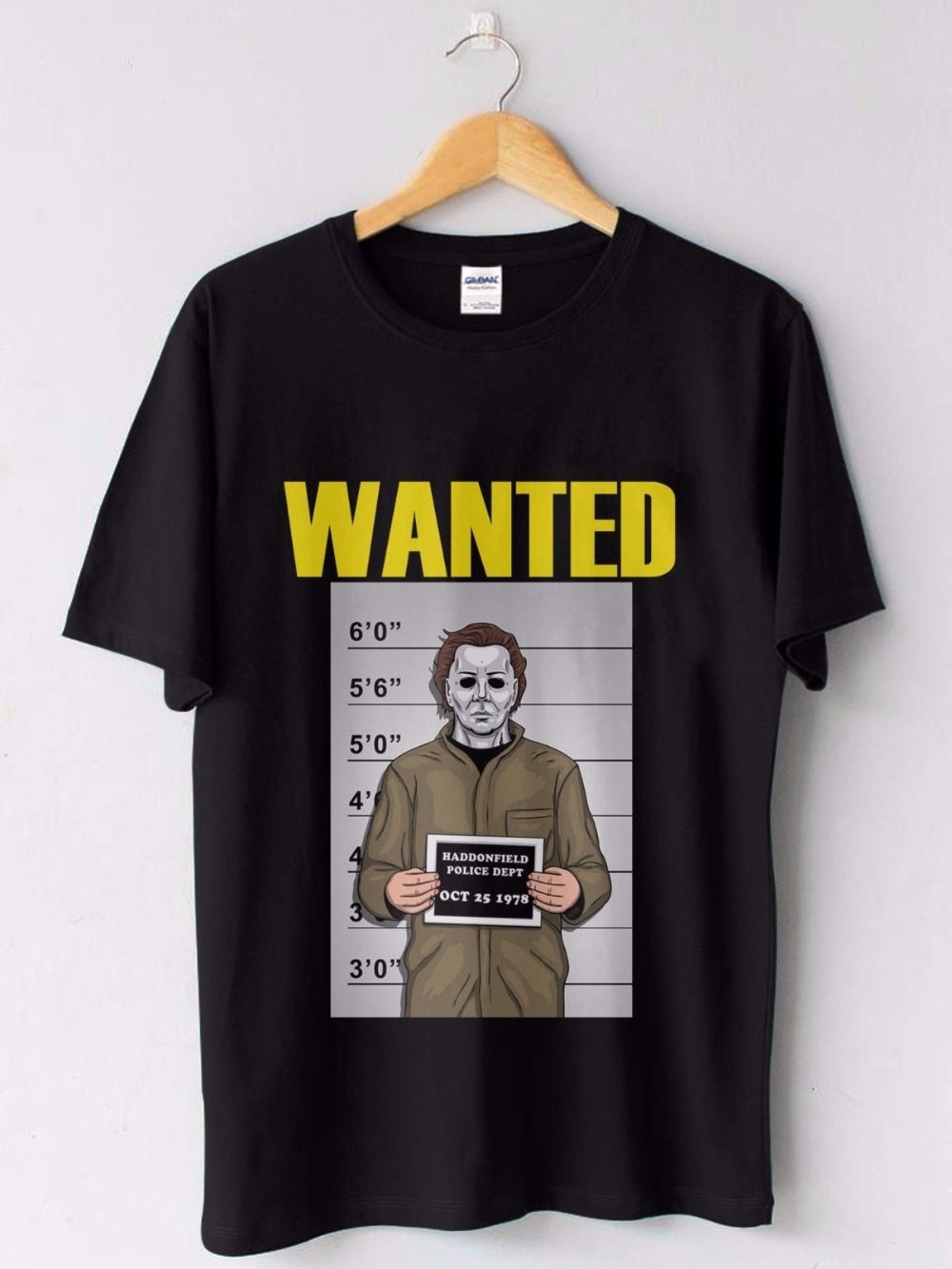 Hipster Vogue Wanted Michael Myers Custom Mens Tshirt Fashion Cotton Tops Black Size S-3XL