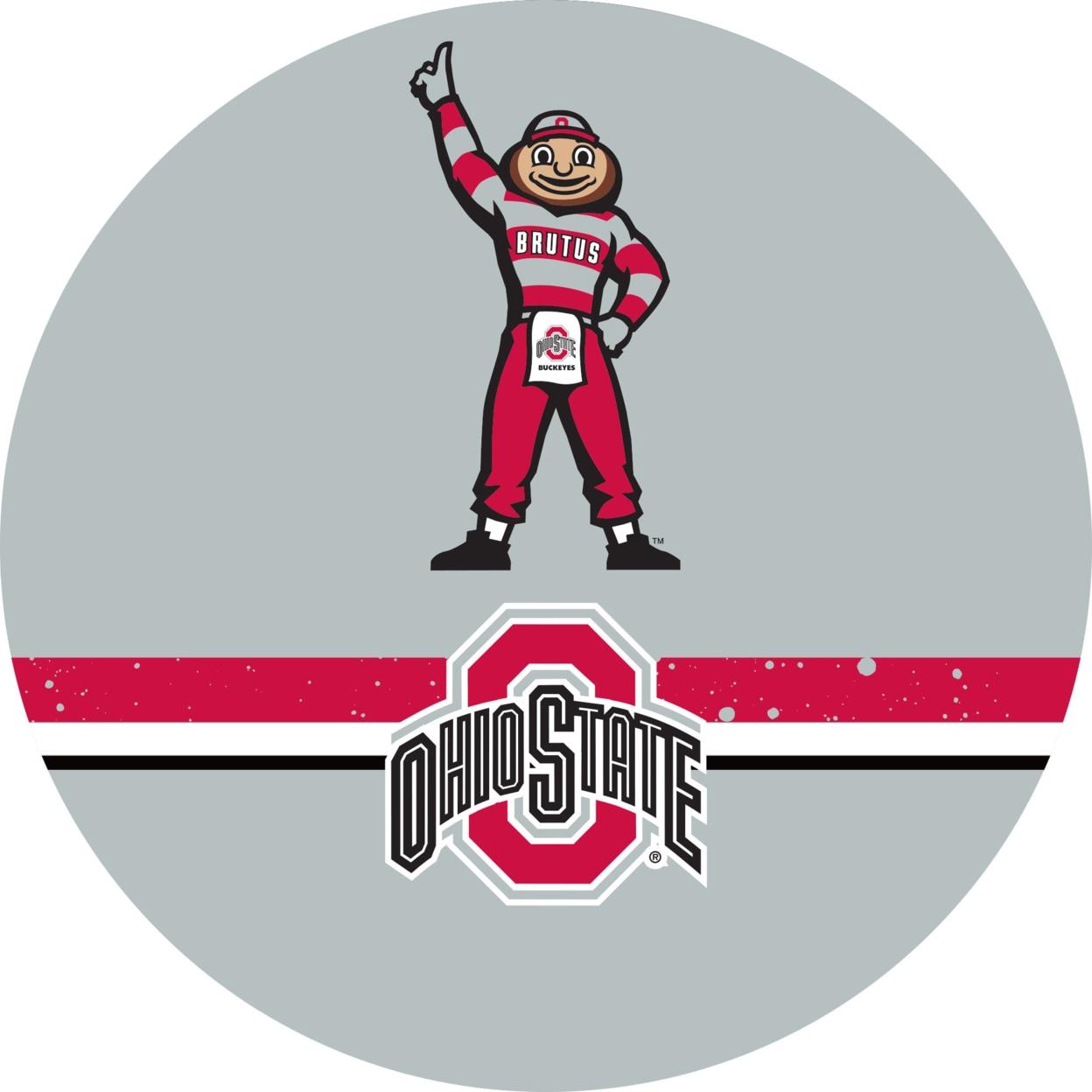 Ohio State Stripe Brutus Chrome 42 Inch Pub Table ботинки meindl meindl ohio 2 gtx® женские