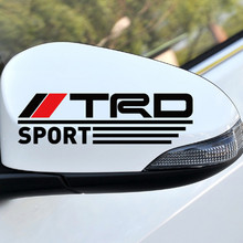 Japan TRD Sports Racing Body Rearview Windows Sticker Decal Car Styling For Toyota Corolla RAV4 YARIS CAMRY CROWN CRUISER