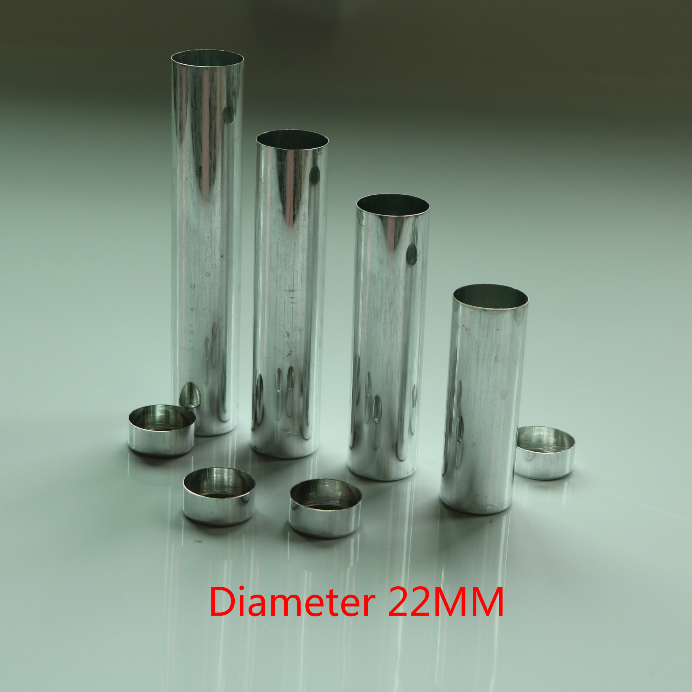 100pcs Diameter 22mm Empty Aluminum Tube Dental Lab Aluminum Cartridges Can S M L Valplast Denture Material Empty Cartridge