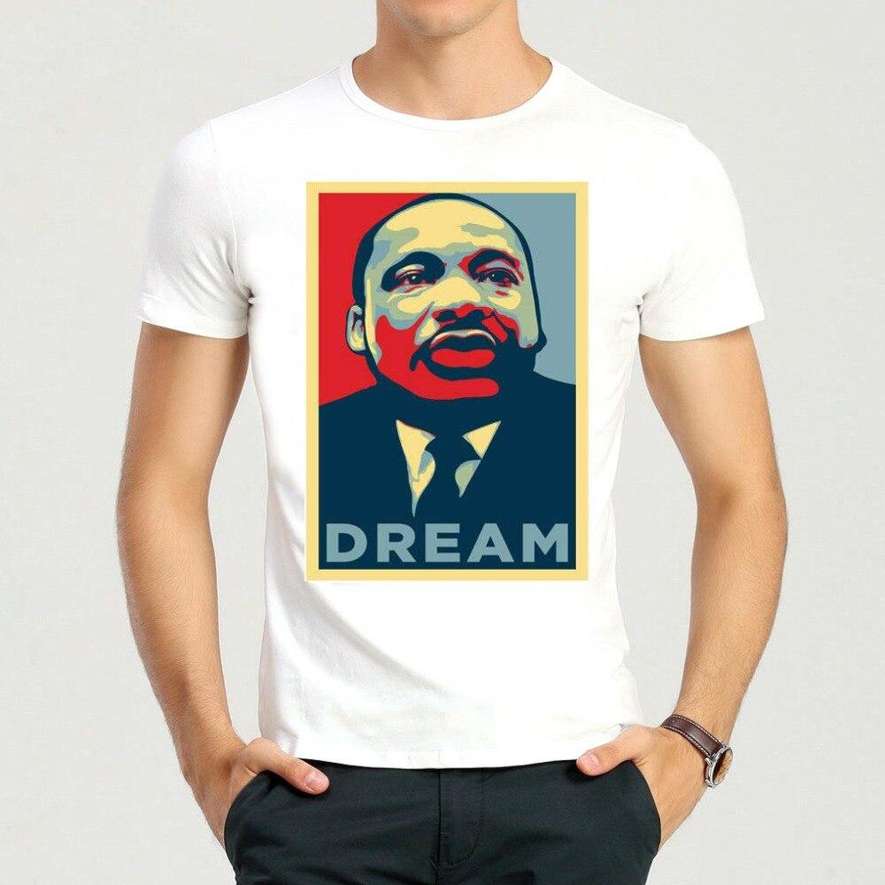 Fashion White Martin Luther King Printing T-shirt Short-sleeve Martin Luther King Jr