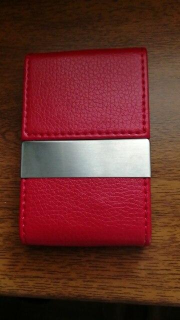 6 Kleuren Mannen Lederen Creditcardhouder Portemonnee Visitekaartje Kaarthouder Tas Case Wizytownik ## photo review