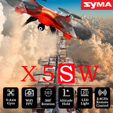 SYMA X5SW 2.4GHz 4CH 6-Axis RC Drone with 0.3MP FPV WIFI Camera Quadcopter aeromodelo Rc Airplane Children Gift Black White Red