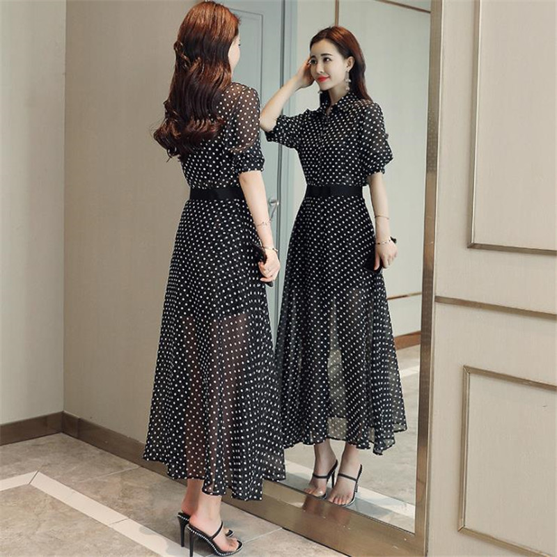 New Wave Asymmetrical Office Work 2018 Summer Chiffon Suits Fashion Loose Playsuits+ Split Skirt De Festa Chic Longo Sets CM2845 5