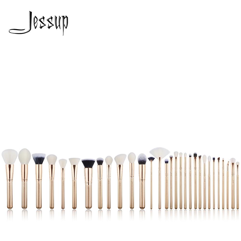 Jessup brosses 30 pcs D'or/Or Rose Professionnel Maquillage pinceaux outils de Beauté Make up brush POUDRE FONDATION FARD À PAUPIÈRES