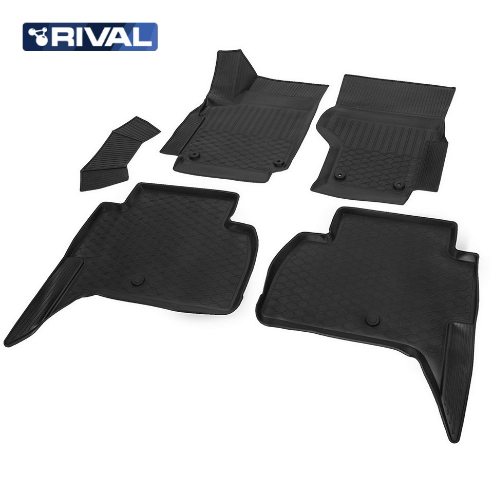 For Volkswagen Amarok 2010-2019 3D floor mats into saloon pick-up 5 pcs/set Rival 15807001 d25mm pick up magnet silver