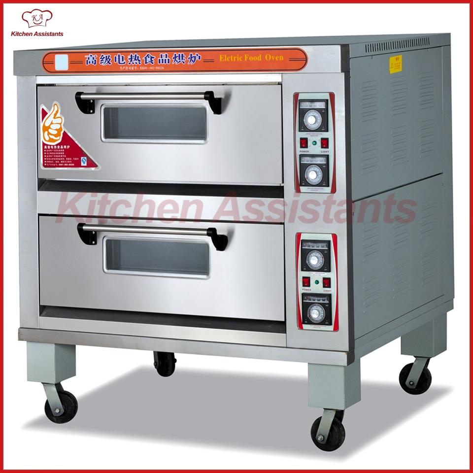 купить HTD40 Double deck Electric Food Pizza Oven for bakery shop по цене 182357.06 рублей