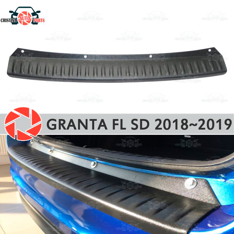 Plate cover rear bumper for Lada Granta Facelift 2018~2019 Sedan guard protection plate car styling decoration accessories
