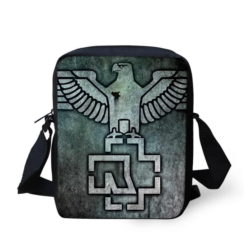 Band Rammstein Printing Shoulder Men Bag Messenger Handbag for Women Cross Body Sac a Main Children School Bags Satchel Mujer (18)