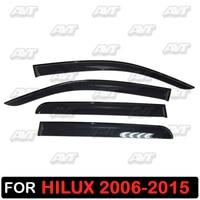 Window deflectors for Toyota Hilux 2006 2015 1 set 4 pcs car styling wind decoration guard vent visor rain guards