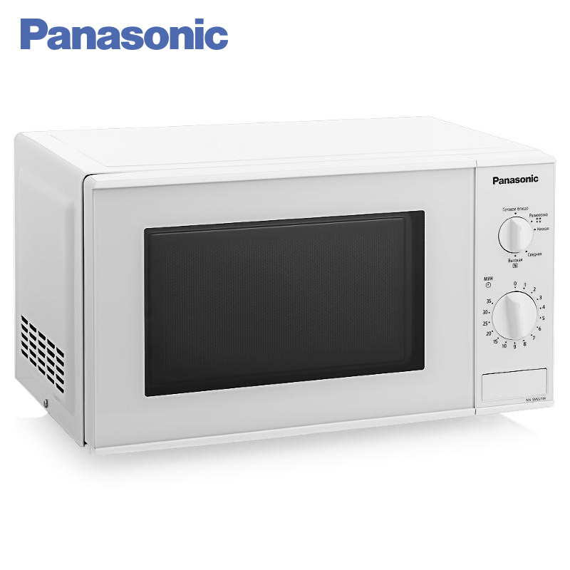 Panasonic NN-SM221WZTE Microwave Oven 1250W 20L TURBO defrost LED lighting inside the oven chamber Timer Tripping sound