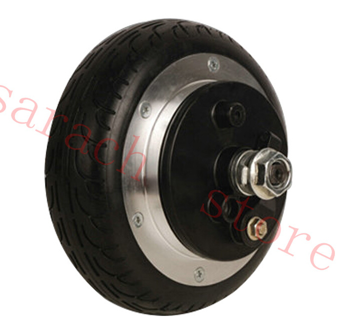 24V 350W 6.5 Drum brake electric wheel hub motor skateboard electric motor 4 wheel electric skateboard single driver motor small fish plate wireless remote control longboard waveboard 15km h 120kg