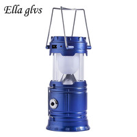 Solar Charger Camping Lantern Lamp LED Outdoor Lighting Folding Camp Tent Lamp USB Rechargeable Lantern Emergency
