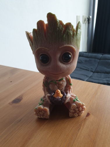 Hand Carved Baby Groot Flowerpot photo review