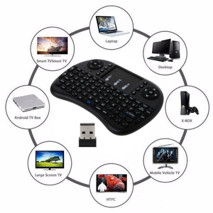 Image 2 - Mecool Mini Draadloze Toetsenbord Engels 2.4Ghz I8 Touchpad Fly Air Mouse Voor Android Tv Box Afstandsbediening Mini Pc met Touchpad
