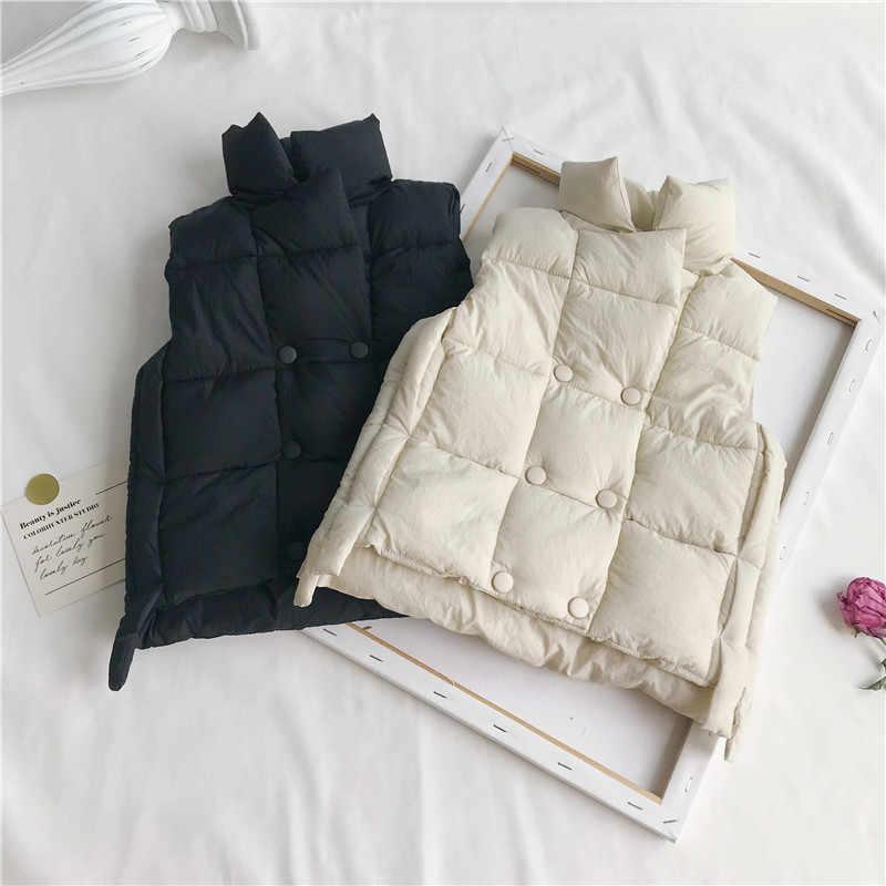 WLG для мальчиков и девочек зимние толстые без рукавов парки детская повседневная одежда Водолазка Теплый жилет Детские хлопковые универсальная детская одежда От 1 до 7 лет