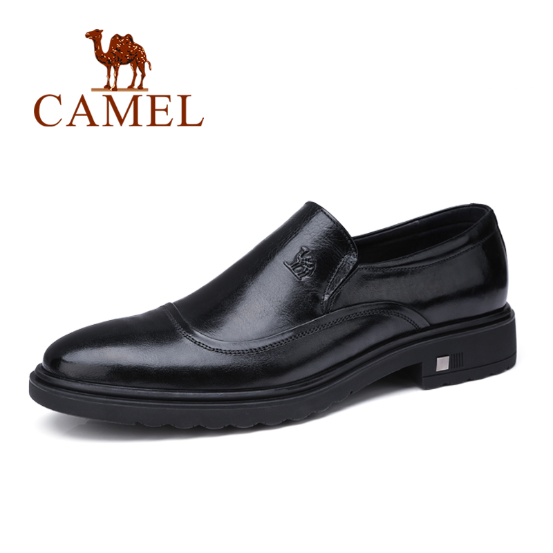 CAMEL Men shoes male brogues men s oxford patent Formal Dress shoes genuine leather Man shoe