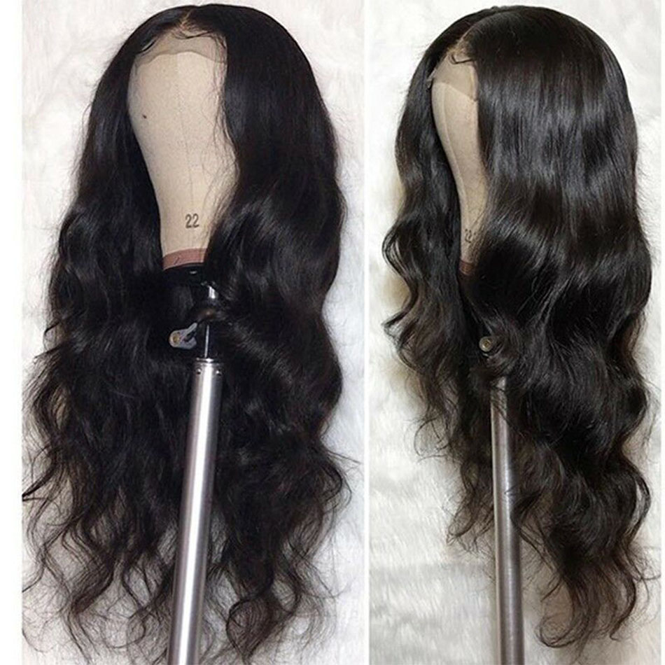 4x4 Closure Wig Lace Front Human Hair Wigs For Women Brazilian Body Wave Wig Pre Plucked
