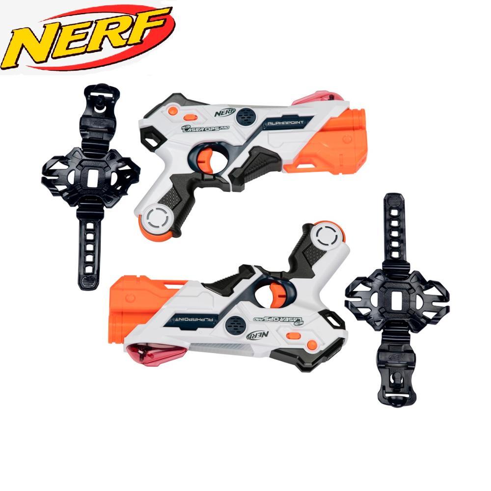 Nerf Laser Ops AlphaPoint 2er Pack, Pistolas laser con APP de Nerf.|Armas de juguete| - AliExpress
