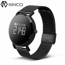 KINCO 0.95inch Heart Rate Blood Pressure Monitor IP67 Bluetooth Sedentary Activity Track Smart Sport Watch Wristband for Phones