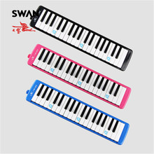 Swan 37 Keys Teaching Performing Melodica Mouth Organ Black Pink Blue Colors Keyboard Musical Instruments Melodicas