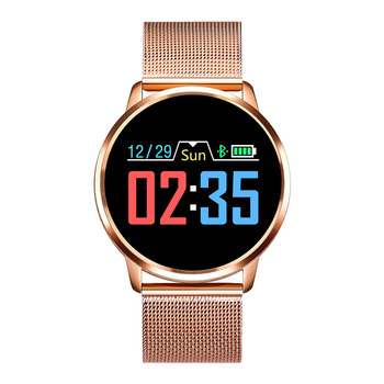 RUNDOING Q8 Smart Watch OLED Color Screen Smartwatch women Fashion Fitness Tracker Heart Rate monitor 12