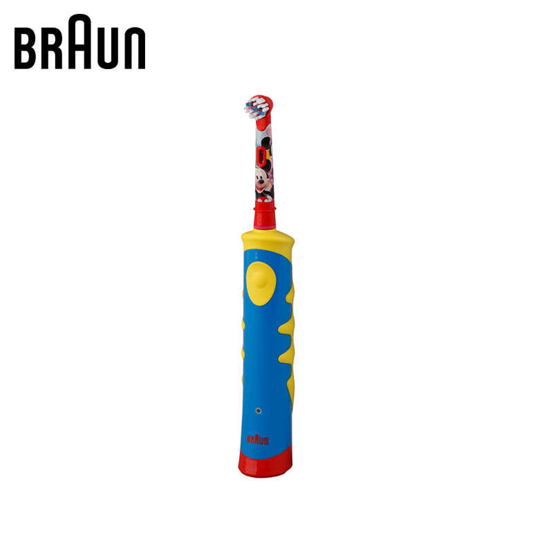 Electric brush Oral-B D10.513K Mickey Kids (6/450) electric toothbrush tooth brush plaque removal oral care tooth cleaning lk186 electric rechargeable washing machine kitchen oil cleaning rotating brush handheld wireless waterproof cleaning machine