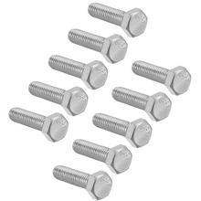 UXCELL 10Pcs M8 Thread 30/35mm 304 Stainless Steel Hex Head Screws Bolts Fastener For Communication Equipment Ship Assembly