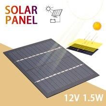 Yeniden dayanıklı güneş hücreleri 1.5W 12V telefon şarj cihazı ev geliştirme GÜNEŞ PANELI 115mm * 85mm polikristal silikon